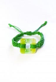 Macrame Glass Square Bracelet