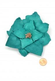 Jumbo Leather Flower Pin