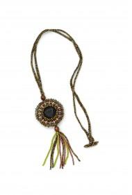 Button Tassel Necklace