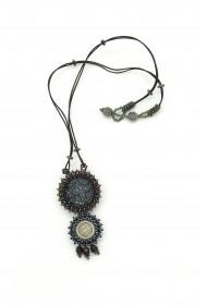 Double Button Necklace