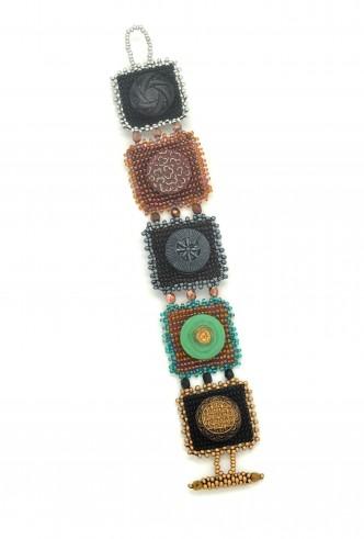 Button Squares Bracelet