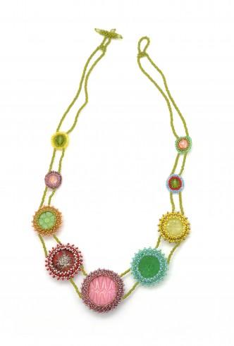 Candy Color Button Necklace