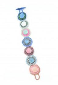 Pastel Vintage Button Bracelet