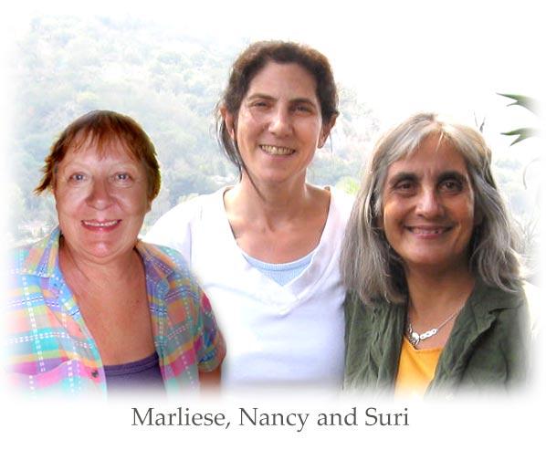 Marliese, Nancy and Suri